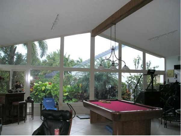 pool table enclosure