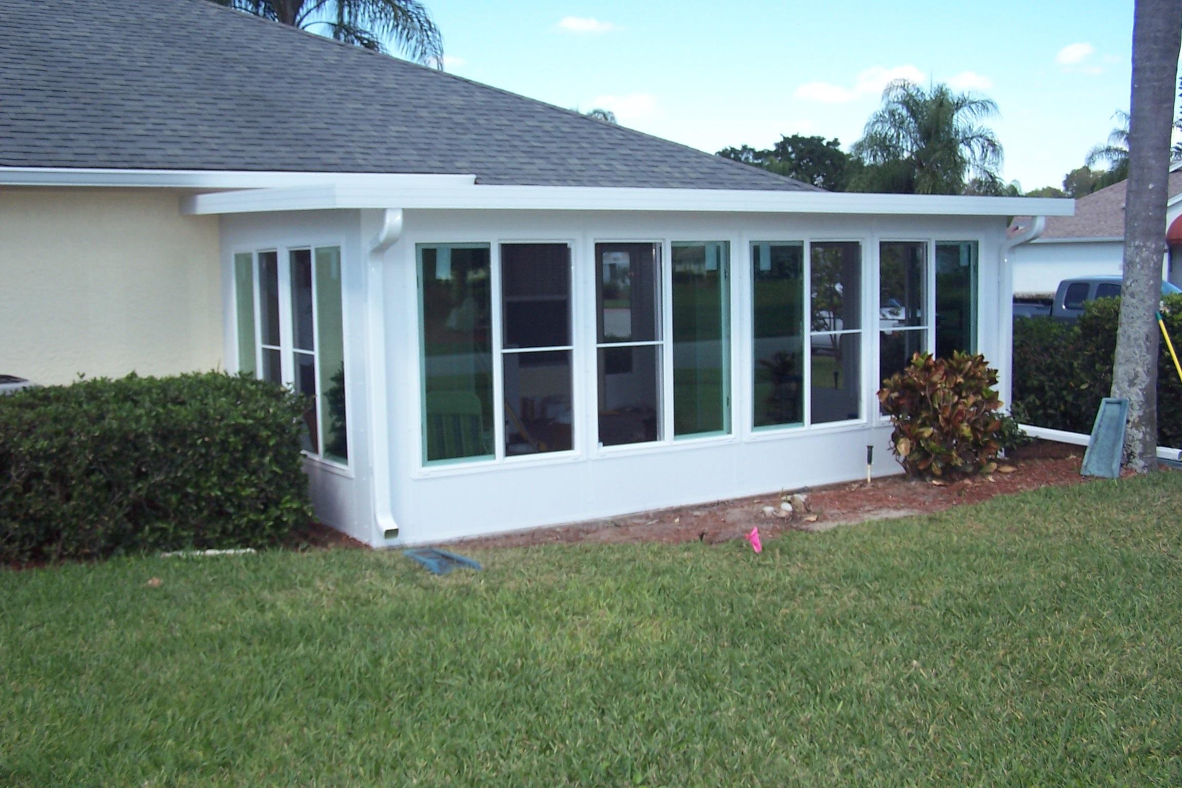 patio with acrylic windows
