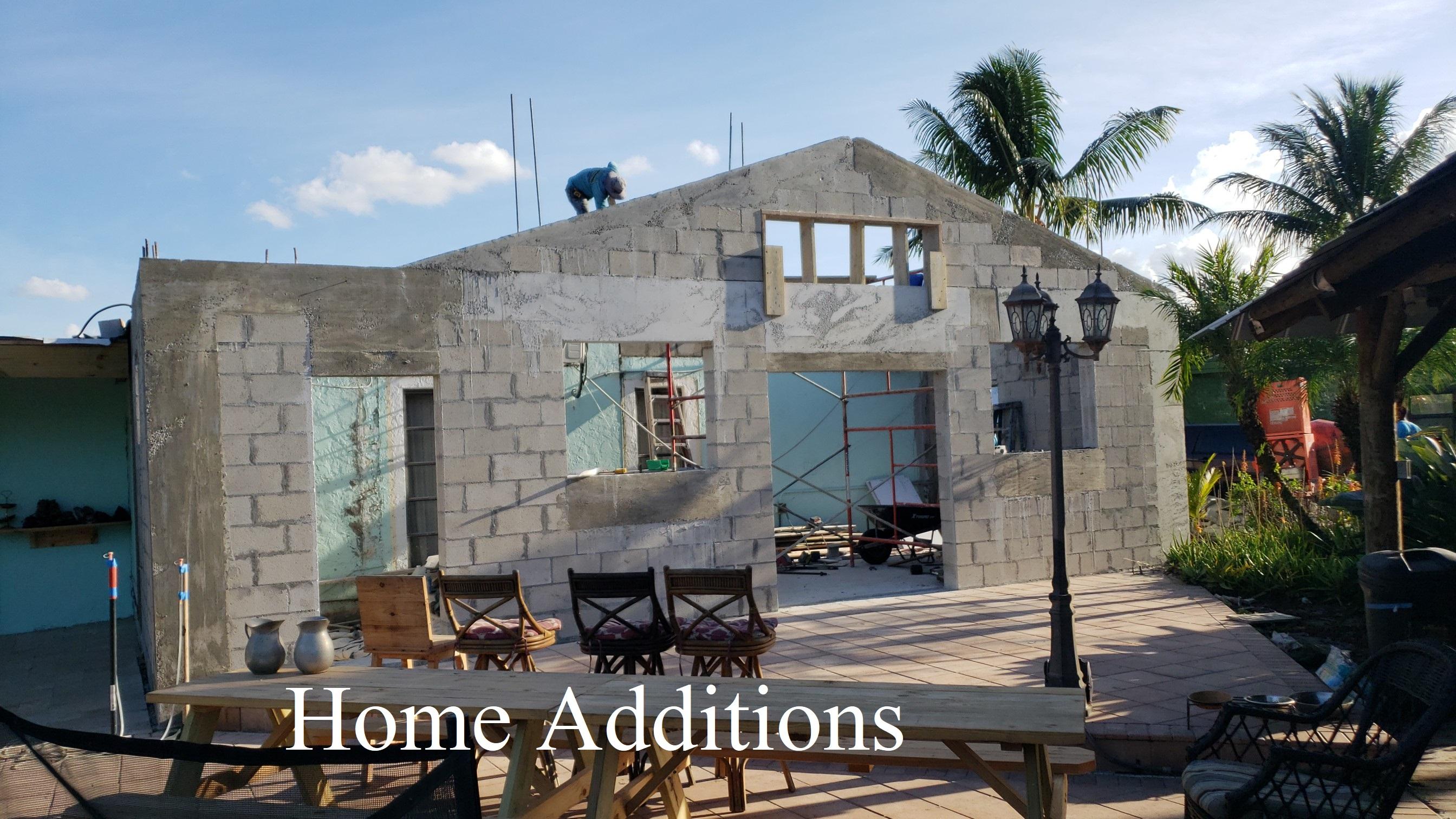 building a concrete home addition