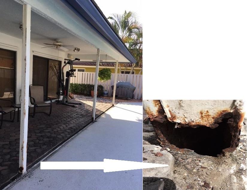 patio column repair