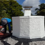 Repair Leaking chimney for Mr. C in West Palm Beach
