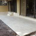 Pouring a new concrete back porch patio deck