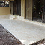 Pouring a new concrete back porch patio deck