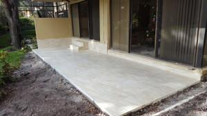 tile patio deck