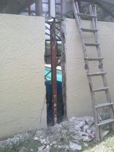 damaged post