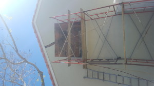 elevated stucco wall repair