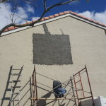 Stucco Wall repair for Mrs Chad in Pembrooke Pines