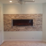 Fireplace and ledger wall for Mr. G in Lake Worth Florida